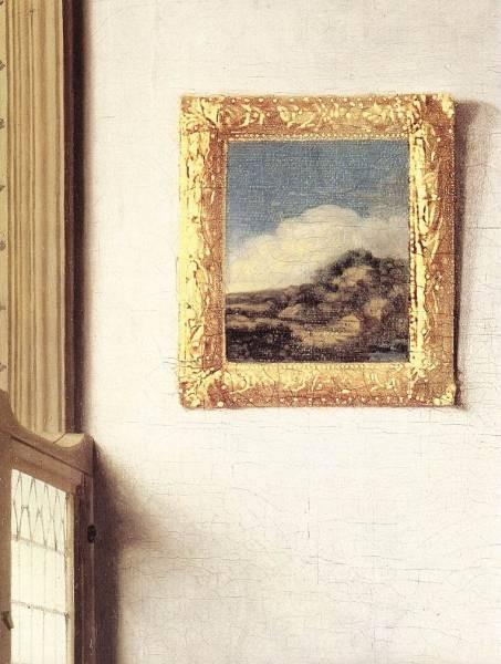 Vermeer Lady Standing at a Virginal detail3